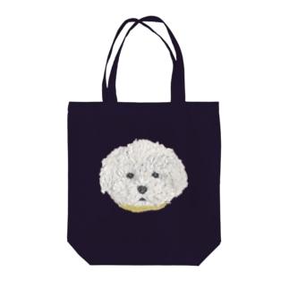 Bless Hue のプードル (白) Tote bags