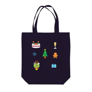 かえるさんのクリスマスA Tote bags