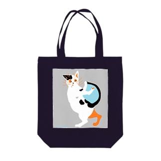ちろちろりの斑のある猫 Tote bags