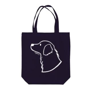 ゴールデン・レトリーバー〈白線〉 Tote bags