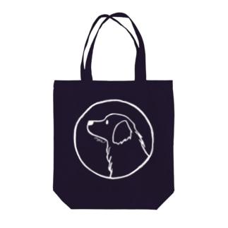 ゴールデン・レトリーバー〈白線・円〉 Tote bags