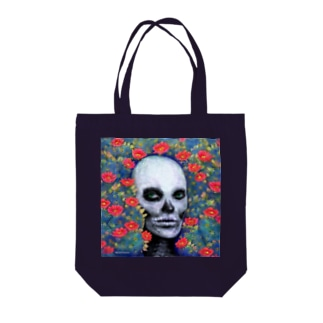 スカルペイントフェイス Tote bags