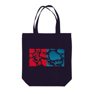 ヤモリのジョンとマリー Tote bags