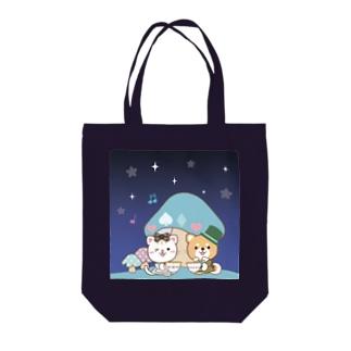 夜空のカフェタイム Tote bags