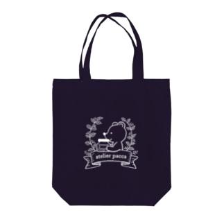 ボトルベア(ホワイトライン) Tote bags