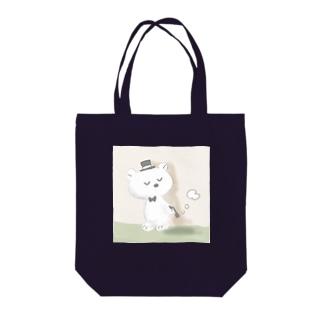 紳士クマ Tote bags
