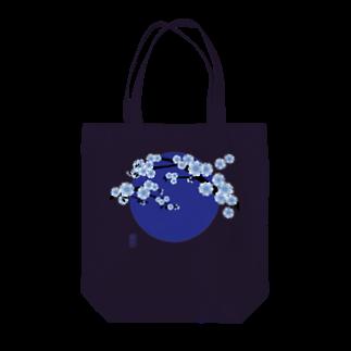 青月の青月【寒桜】 Tote bags