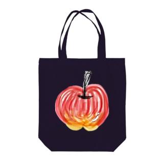 しりとりんご Tote bags