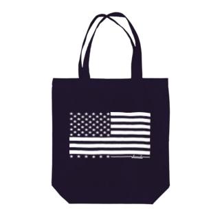 dacci 星条旗(白) Tote bags
