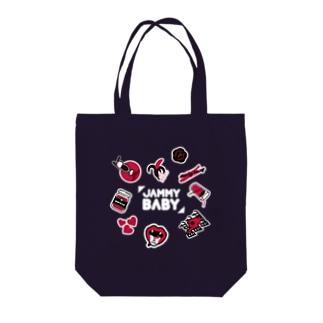 JAMMY BABY(ロゴ白Ver.) Tote bags