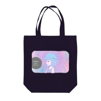 サマーガール Tote bags