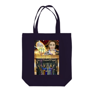 GECKO-SO-SINGのパワーストーン『ルチルクォーツ』 Tote bags