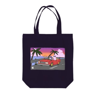 DRIVE sunset ver. Tote bags