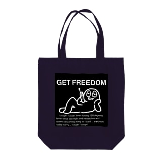 GET FREEDOM 黒 トートバッグ