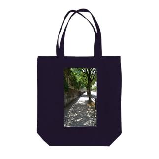 こもれびの道 Tote bags