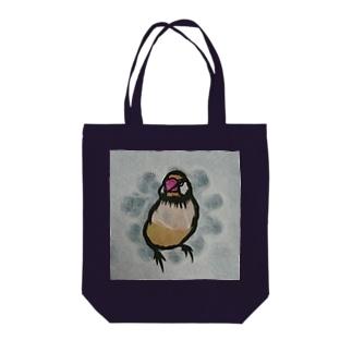 切り絵*シナモン文鳥 Tote bags