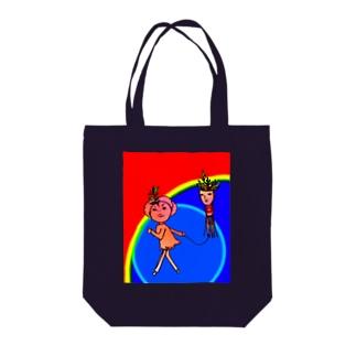 タコアゲ少女、虹の空2 Tote bags
