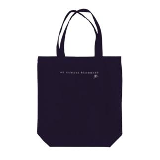 【濃色地・サインあり】BE ALWAYS BLOOMING Tote Bag