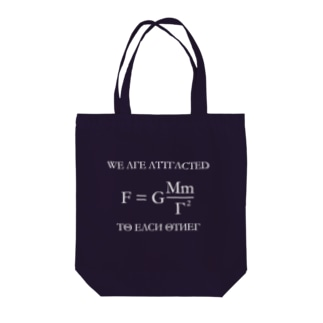 We are Attracted to Each Other Tote bags