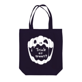 【Halloween-T】 No.2 ホワイト Tote bags