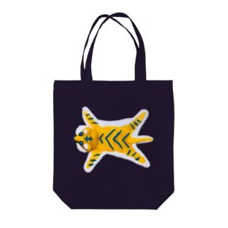 虎の敷物(横) 粘土製 Tote Bag