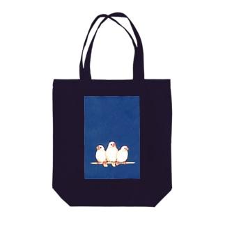 愛鳥週間(白文鳥) Tote bags
