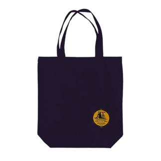 一ノ瀬彩:LOGO_勲章風【英語】 Tote bags