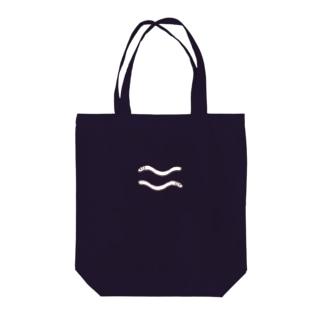 ミミズくん Tote bags