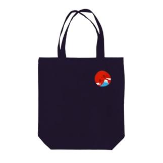 Fuji-tozan-unjyo Tote bags