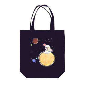 銀河詩ローズ Tote bags