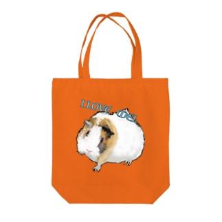 I LOVE MEL Tote bags