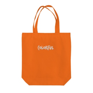 Colorful ロゴ Tote bags