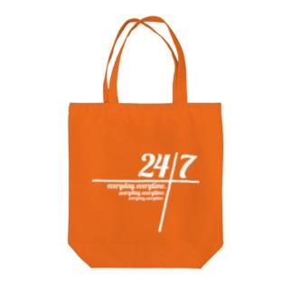 24/7 -twenty-four seven- Tote bags