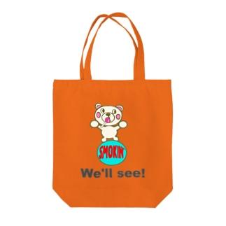 玉のりモクモックマ 飴ちゃんフェイス 白 オリジナルアイテム Tote bags