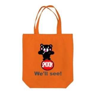 玉のりモクモックマ 飴ちゃんフェイス 黒 オリジナルアイテム Tote bags