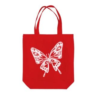 極楽蝶(白) Tote bags