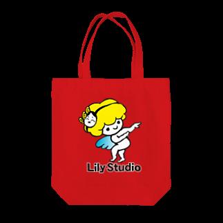 LILY STUDIOの招福の舞チーズ天使 Tote bags