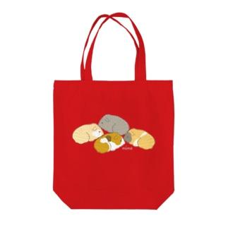 4匹のモルモット(ブラウン) Tote bags