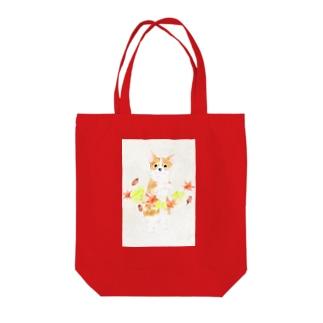 紅葉狩りー和紙 Tote bags
