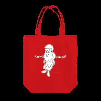 アトリエ・シシのLOVE MOFU2 +piping モフモフをギュッとね Tote bags