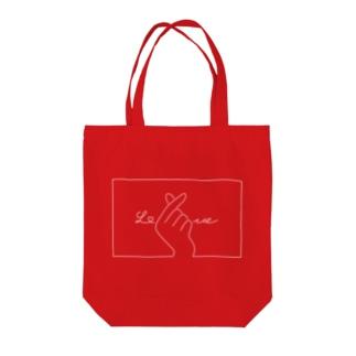 指ハート(White) Tote bags