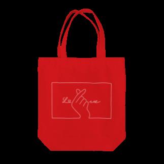 SIRO%(しろぱーせんと)の指ハート(White) Tote bags