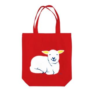 モグモグするヨーグルちゃん Tote bags
