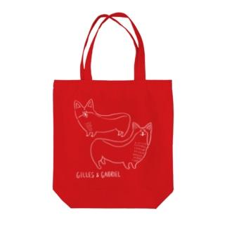 GILLES & GABRIEL なかよし 濃色 Tote bags