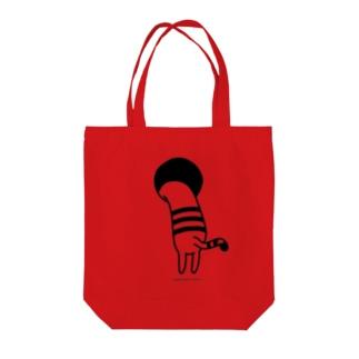 ながねこラボSUZURI店のながねこと穴に入りたい時に使うカバン Tote bags
