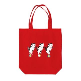 玉のりねこ Tote bags
