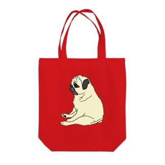 お疲れパグ子 Tote bags