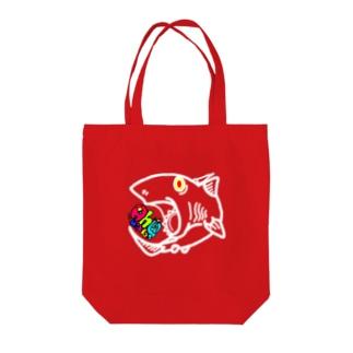 ヘリコプリオン Tote bags