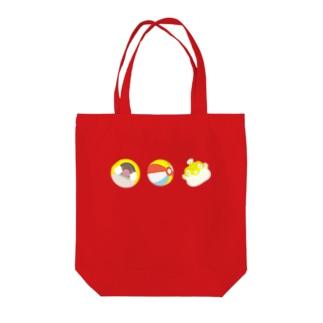ふくらむもの3種 シナモン文鳥 Tote bags