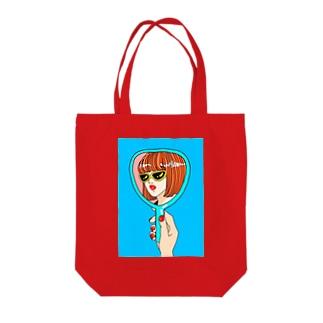 自分大好きな女の子 Tote bags